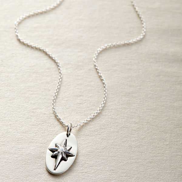 North Star hand hammered wire wrapped necklace
