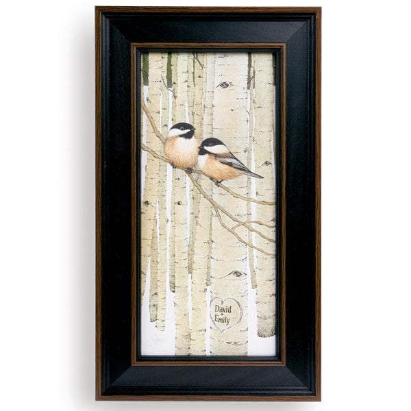 Personalized Love Birds Framed Canvas Print at Signals | HB4112