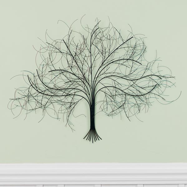 Charmant Black Tree Metal Wall Art