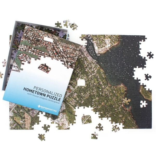 personalized hometown jigsaw puzzle satellite image at signals