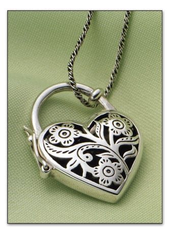 Heart Padlock Locket