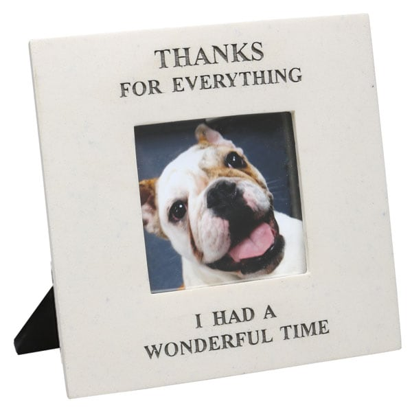 thanks for everything memorial frame - Dog Picture Frame