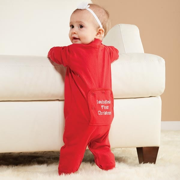 Personalized Baby's First Christmas Long Johns | 32 Reviews | 4.38 ...