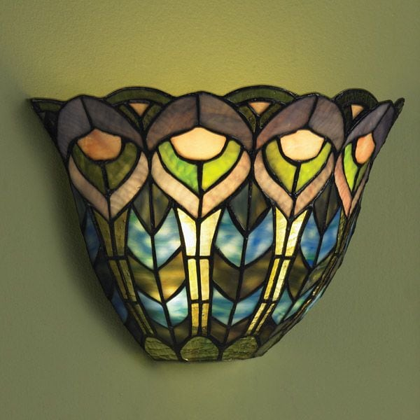 Tiffany Wall Sconce With Switch : Wireless Wall Sconce - Peacock at Signals HP1692