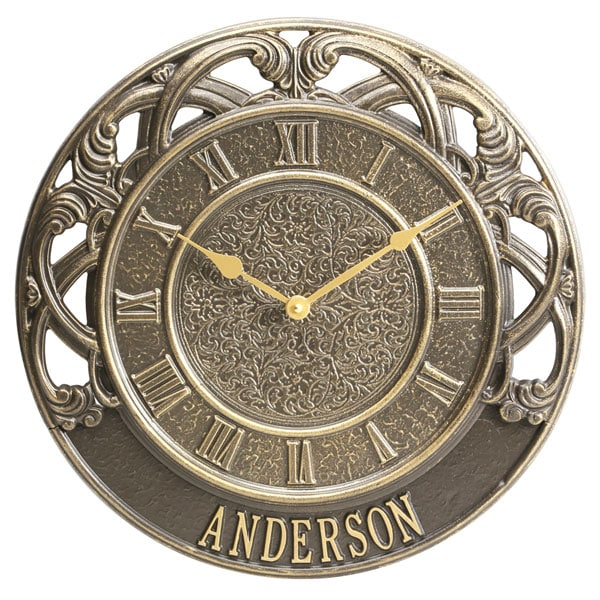Personalized Chateau Indoor/Outdoor Clock at Signals | HP6502