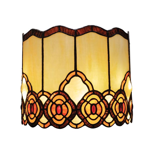 Battery Operated Wall Sconce In Tiffany Style Art Glass Touch Of