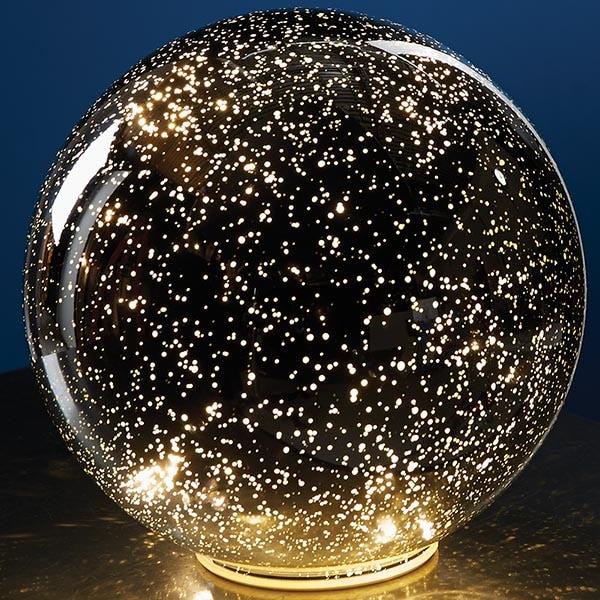 Mercury Glass Decorative Balls Extraordinary Lighted Mercury Glass Sphere  Silver At Signals  Hr3416 Design Decoration