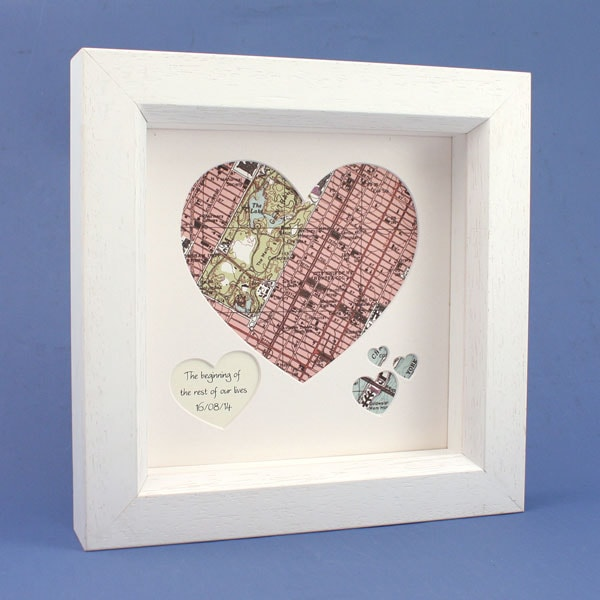 Customized To Any Location Framed Heart Map at Signals | HR3842
