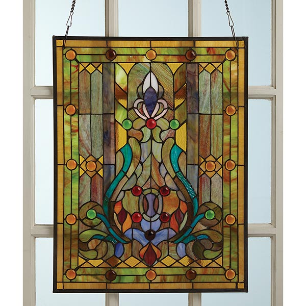 Victorian style stained glass window panel at signals hr9252 for Window panel design