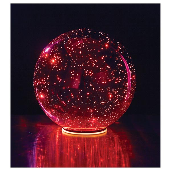 Lighted Red Crystal Ball At Signals Hr9916