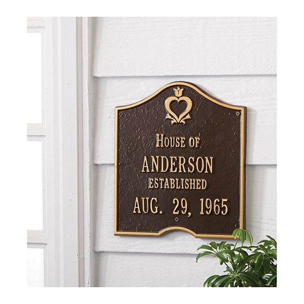 Personalized House Of Wall Plaque 23 Reviews 4 73913 Stars Signals Ht1642