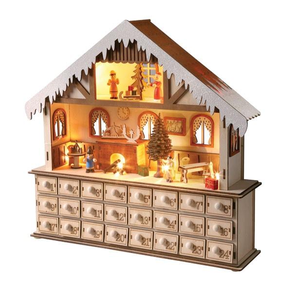 Lighted Santa S Workshop Wooden Advent Calendar 24 Reviews 4 67