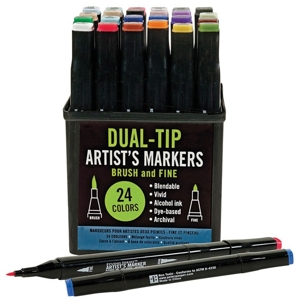 Dual Tip Artist S Markers Set 21 Reviews 4 57 Stars Signals Ht9942