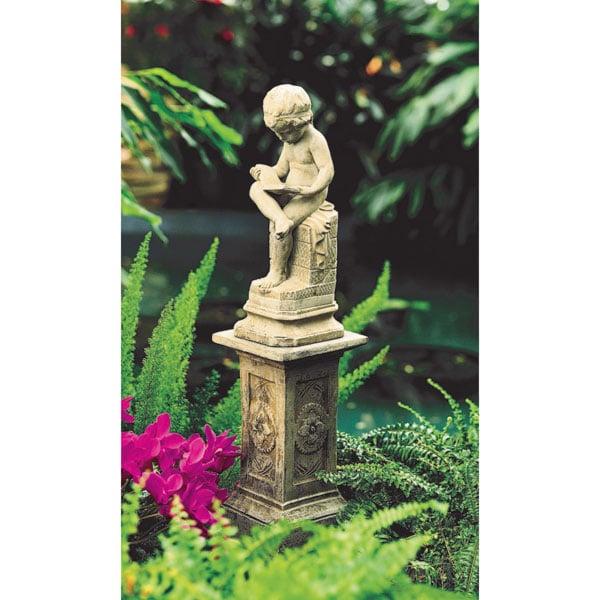 Exceptional The Little Scholar Garden Sculpture And Pedestal