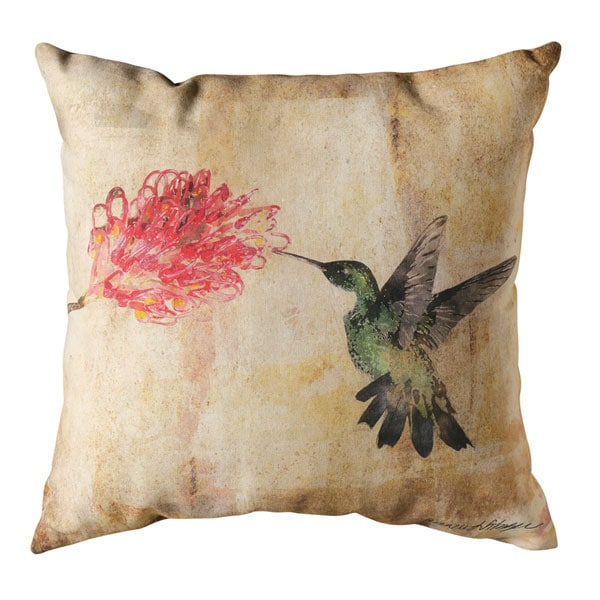 Watercolor Hummingbird Indoor/Outdoor Pillows - Floral at Signals ...