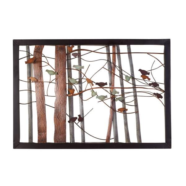 Metal Dyed Birds On A Limb Wall Art Woodland Birds On Tree Limb