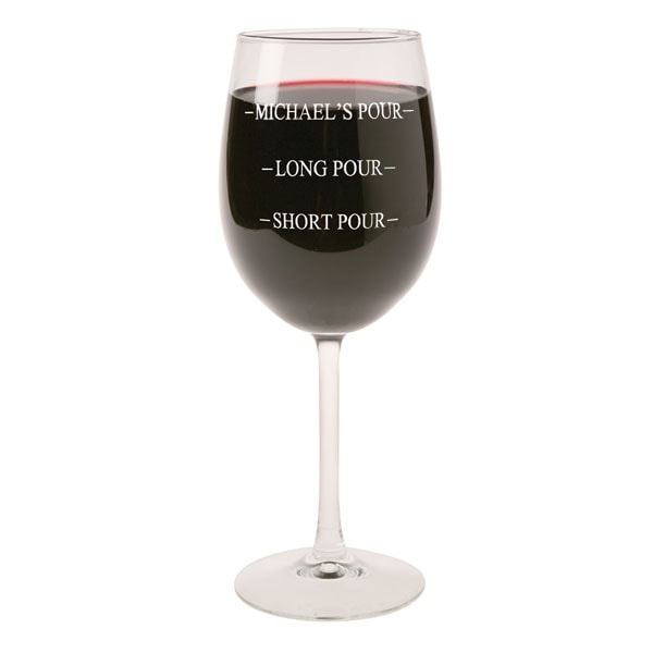 Personalized Pour Wine Gl Stemmed