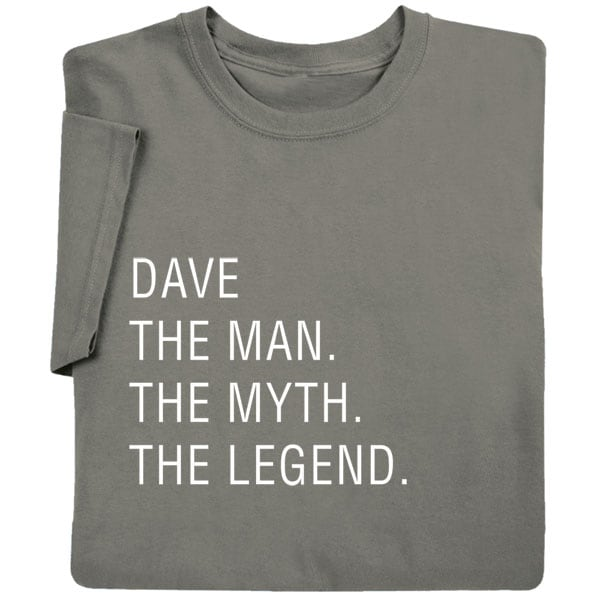Personalized The Man The Myth The Legend Shirts