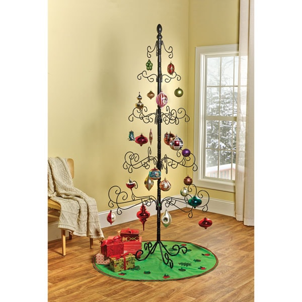 Christmas Tree Display Stand.Wrought Iron Ornament Christmas Tree