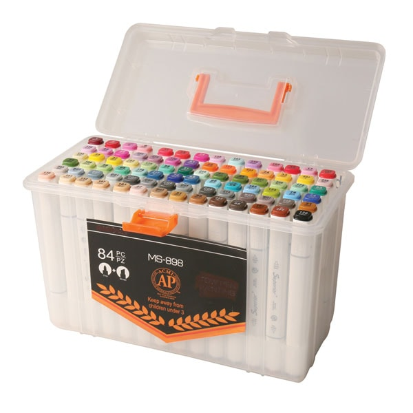 The Ultimate Dual Tip Artist S Markers Set 84 Colors