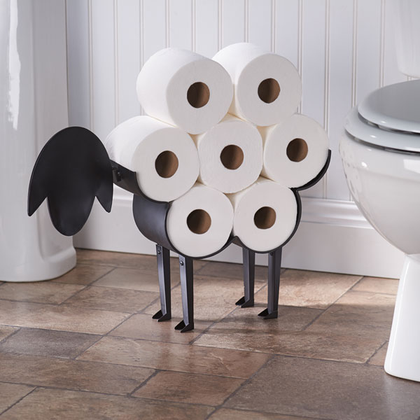 Sheep Toilet Paper Holder Free Standing Bathroom Tissue Storage