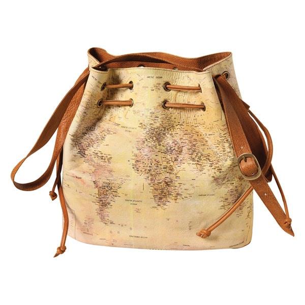 World map leather handbag at signals hx1757 world map leather handbag gumiabroncs Images