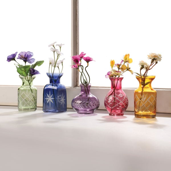 Petite Glass Bud Vases Set Of 5 13 Reviews 469 Stars