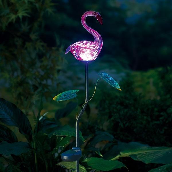 Exceptionnel Pink Flamingo Solar Garden Stake