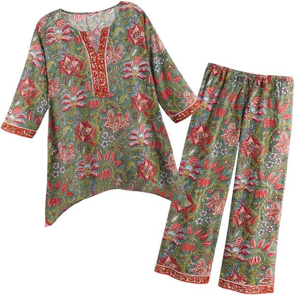 7423571830 Floral Vines Pajamas