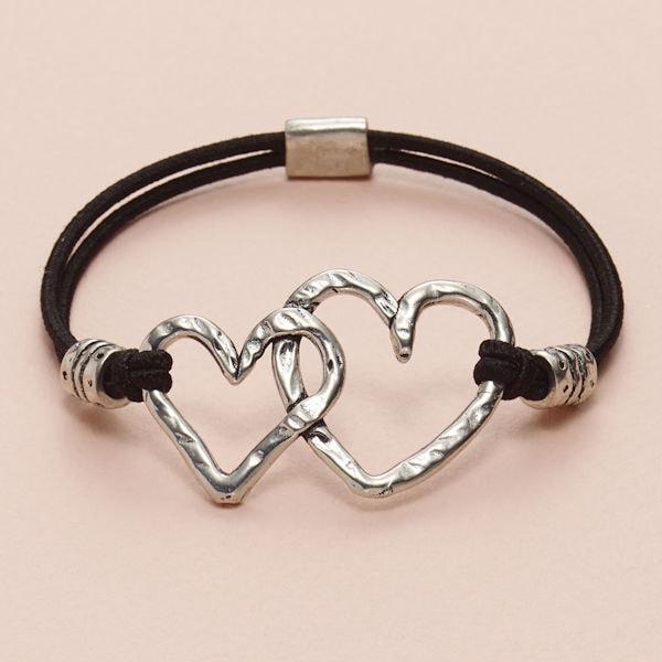 Two Hearts Stretch Bracelet