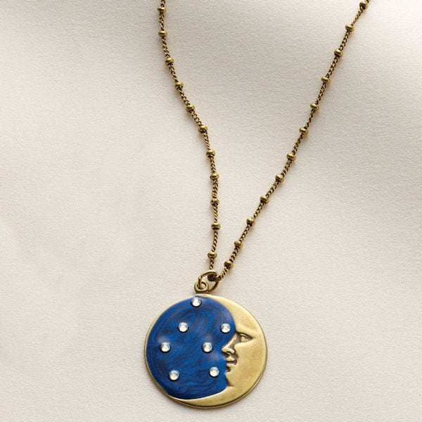 b1a14baef89 Moon and Stars Necklace   1 Review   5 Stars   Signals   HY6472