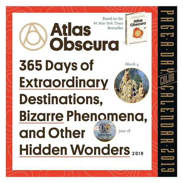 graphic regarding Page a Day Calendar titled Atlas Obscura 2019 Site-A-Working day Calendar