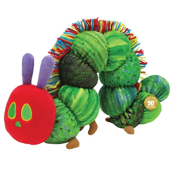 Very Hungry Caterpillar 50th Anniversary Plush Amp Print 1