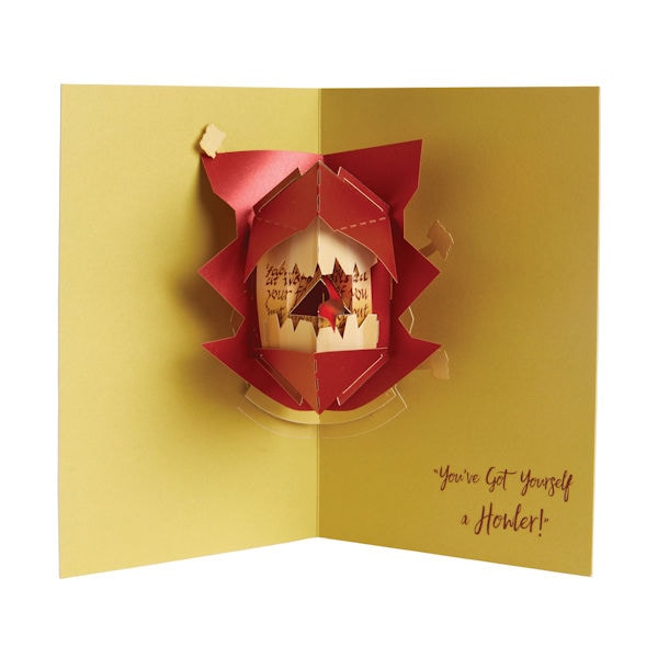 Pop Up Christmas Cards.Harry Potter Howler Pop Up Greeting Card