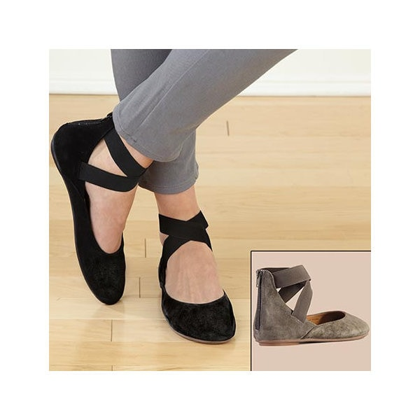 Ballet Flats - Suede Arabesque   3