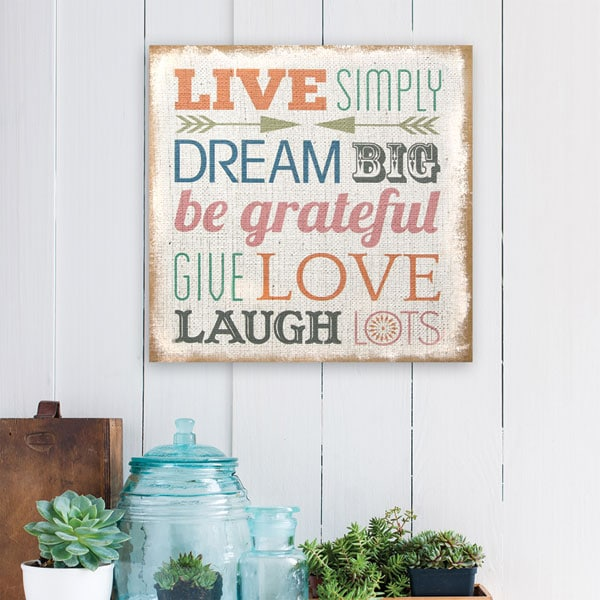 Love Simply Typography Burlap Wall Décor | Signals | PT8162