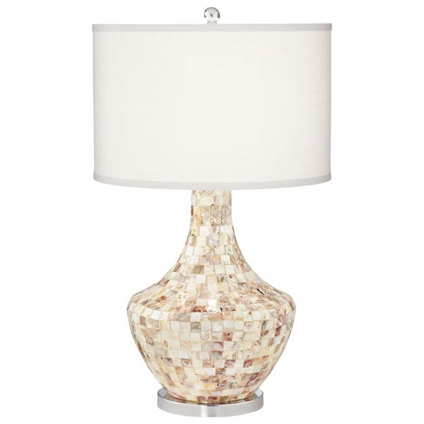 Mother Of Pearl Table Lamp Signals Pt9422