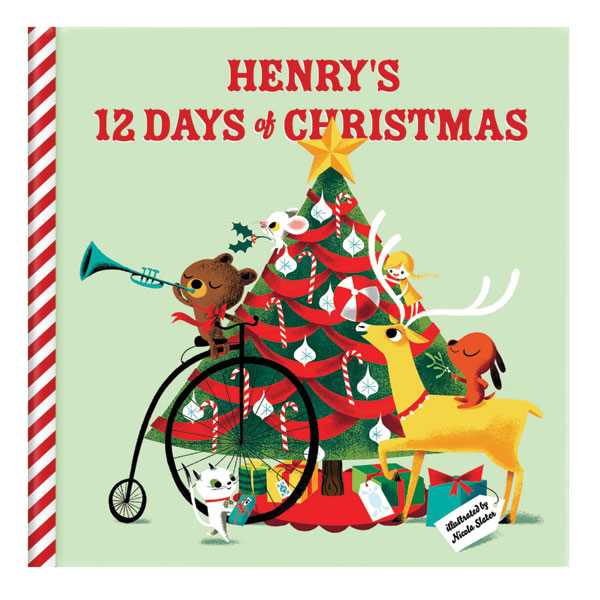 Twelve Days Of Christmas Book.Personalized My 12 Days Of Christmas Story Book