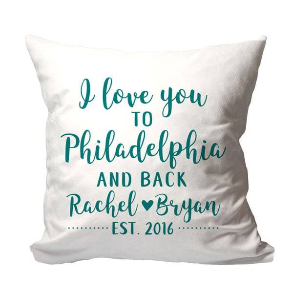 Fabulous Personalized I Love You to {Location} and Back Pillow at Signals  YI15