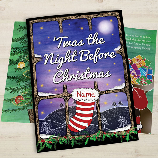 personalized twas the night before christmas childrens book