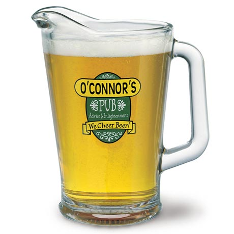 "Personalized ""Your Name"" We Cheer Beer Pitcher"