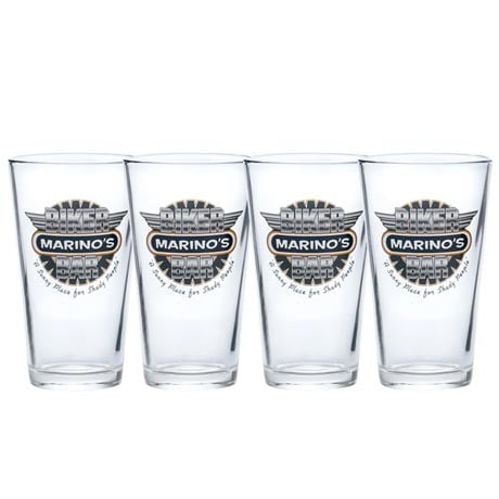 Personalized Biker Bar Pint Glasses