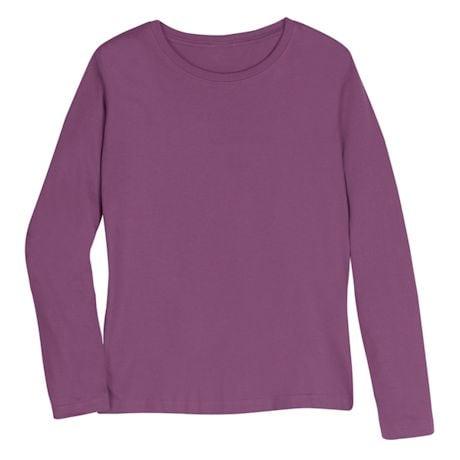 Eggplant Ladies Long Sleeve T-Shirt