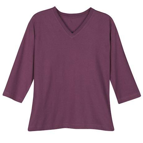 Eggplant Ladies 3/4 T-Shirt