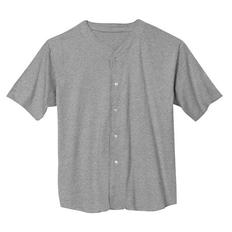 Grey Heather Solid Baseball Jersey