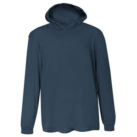 Navy Hooded T-Shirt