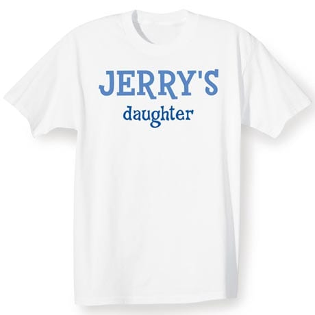 Personalized 'Family Of' Shirts