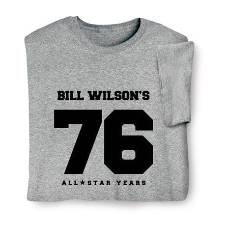 "Personalized ""Your Name & Age"" Birthday/Retirement All Star Years Shirt"