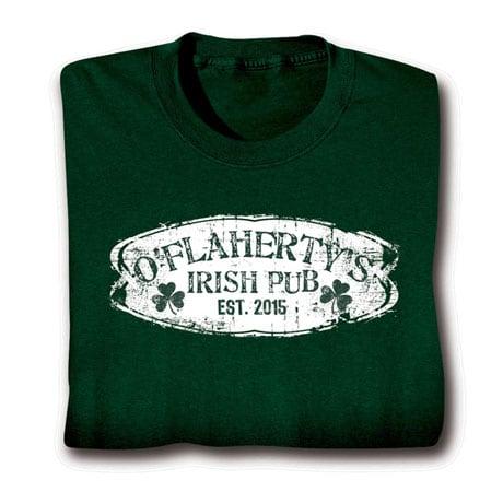 "Personalized ""Your Name & Date"" Irish Pub Shirt"