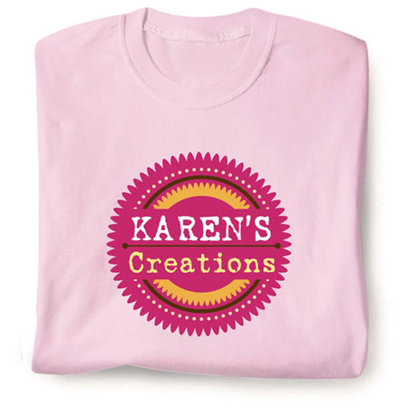 "Personalized ""Your Name"" Creations Creative Baker & Cook Shirt"